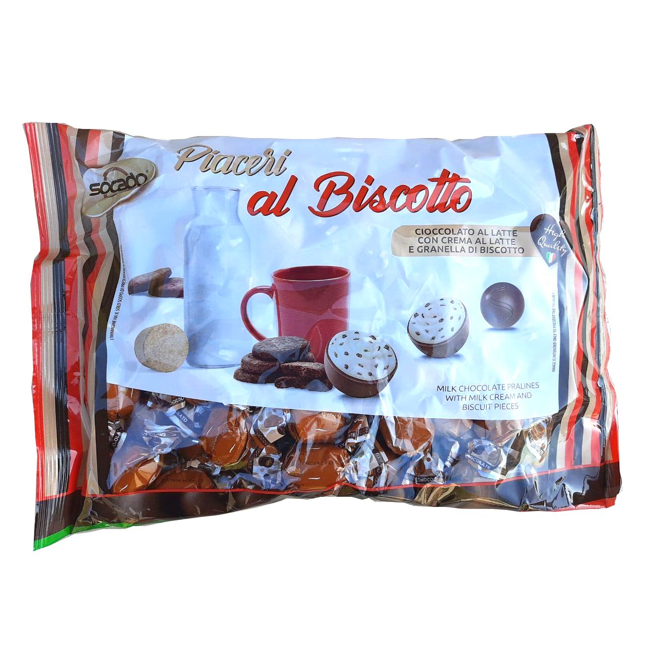 Шоколадные конфеты Бискотто-крем PIACERI 1 кг 1/6 шт Сокадо