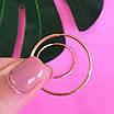 Золоті сережки-кільця гладкі діам. 30 мм - Невеликі сережки Конго із золота, фото 3