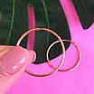Золоті сережки-кільця гладкі діам. 30 мм - Невеликі сережки Конго із золота, фото 2