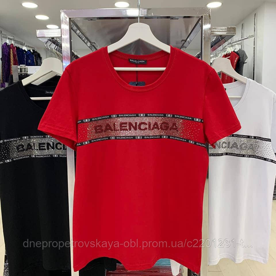 Турецкая футболка Balenciaga батал Rich Glam Zanardi