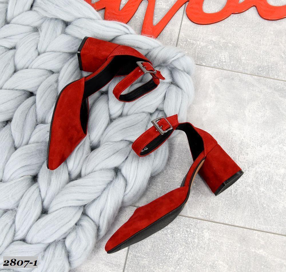 Шикарные замшевые туфли на каблучке 36-40 р красный