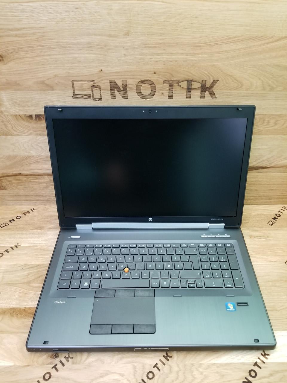 """HP EliteBook 8760w 17"""" i7-2720qm/8GB/128SSD/500hdd/3000m FullHD"""