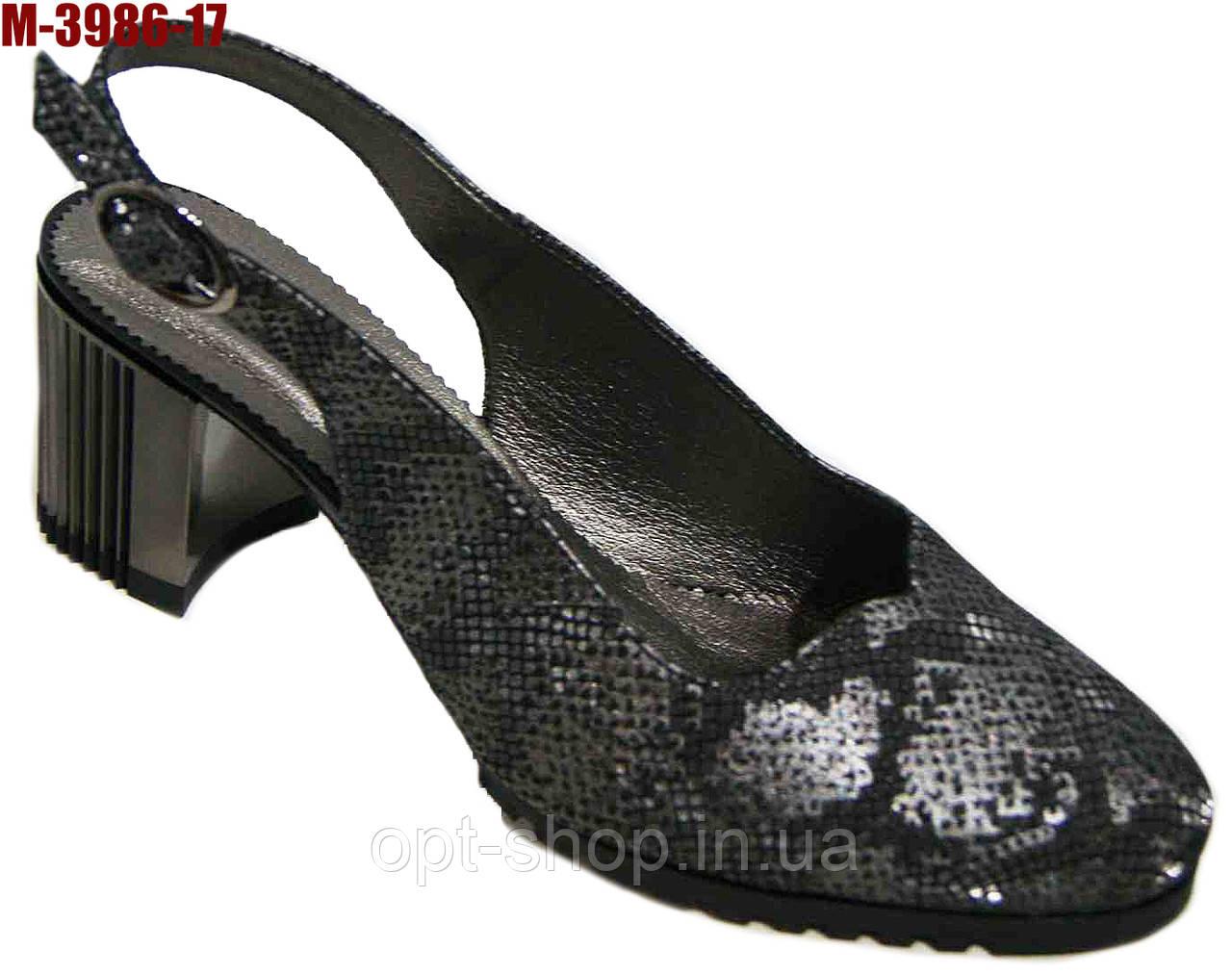 Босоножки женские на каблуке большого размера