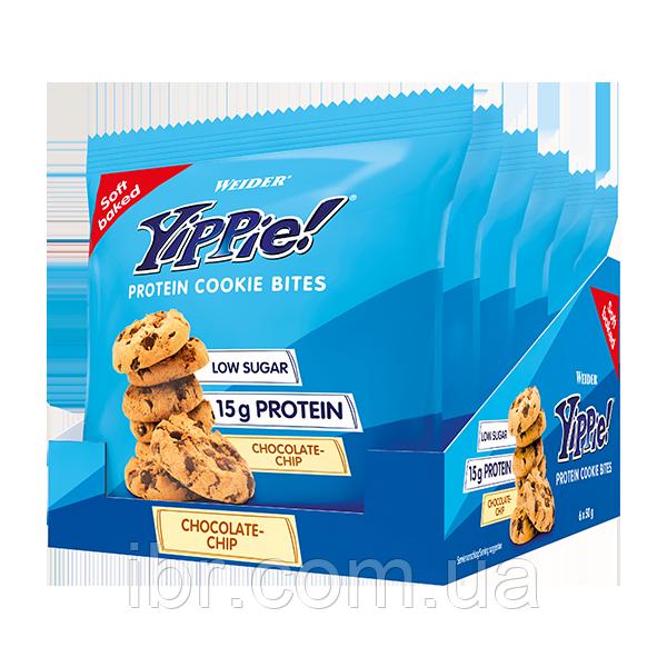 Печиво Weider Yippie! Protein cookie bites 50 g Шоколад 6 шт