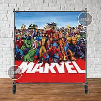"""Продажа Баннера  2х2м.на День рождения- Фотозона (виниловый баннер) -"""" Суппергерои/Марвел"""""""