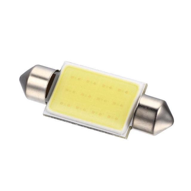 Лампочка автомобильная COB 39мм 12В 3Вт