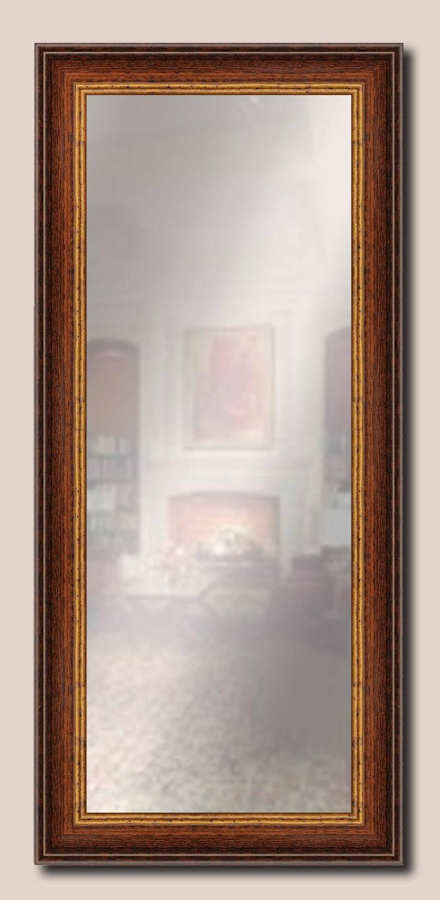 Зеркало настенное в раме Factura Rust 43.5х98 см коричневое