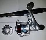 Комплект Спиннинг+Катушка с поплавочной оснасткой  2,4м, фото 4