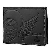 Мужское кожаное портмоне без застежки Always Wild N992-HUB Black