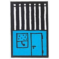 Коврик детский IKEA HEMMAHOS 50x75 см голубой/черный 703.323.55