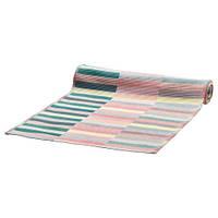 Дорожка настольная IKEA MITTBIT 35x130 см розовая бирюза светло-зеленый 403.435.72