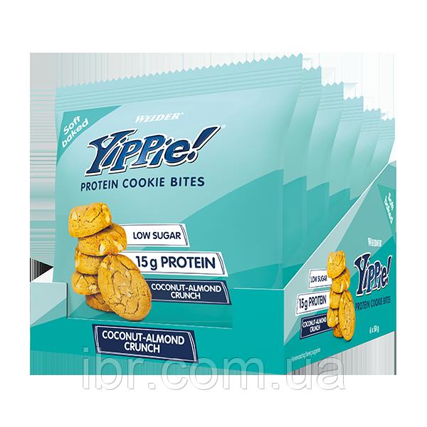 Печенье Weider Yippie! Protein cookie bites 50 g Кокос-Миндаль 6 шт