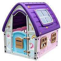 Детский игровой Домик UNICORN GRAND HOUSE StarPlay (22-561) 123,5*102,5*121,5 см