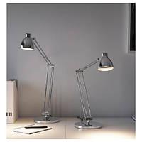 Лампа рабочая IKEA ANTIFONI настольная никелированный 203.047.36