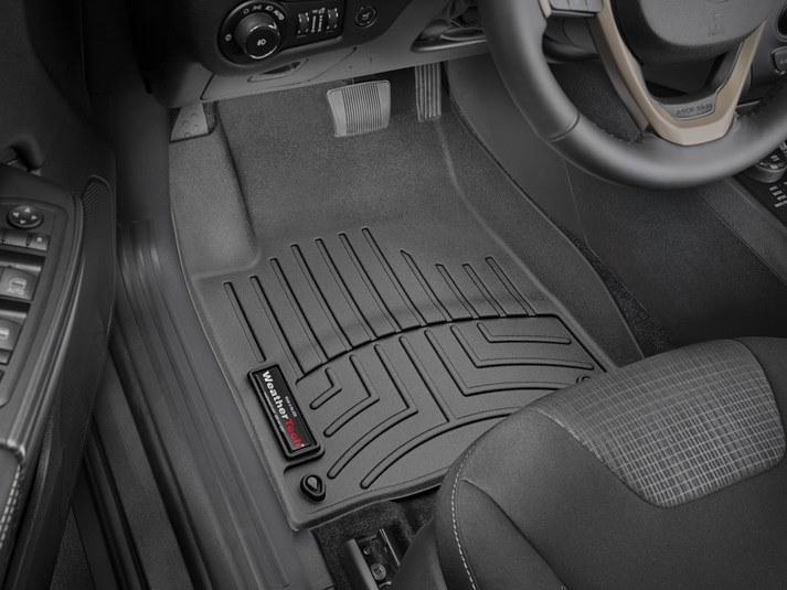Ковры резиновые WeatherTech Jeep Cherokee 2014+ передние черные