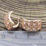 Жіночі сережки Xuping сережки медичне золото, фото 2
