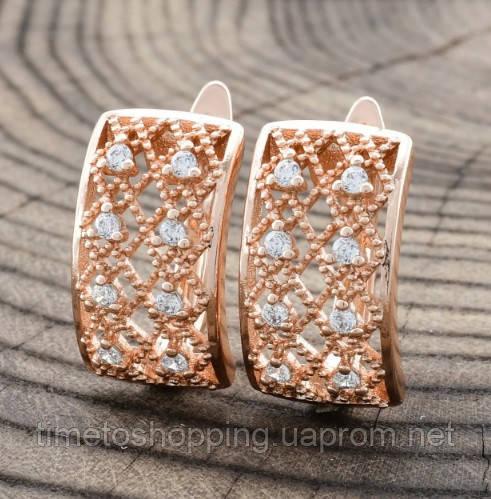 Жіночі сережки Xuping сережки медичне золото