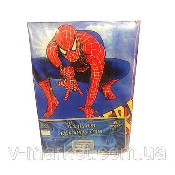 """""""Человек паук"""" полуторное постельное белье с детским рисунком, Тирасполь, Tirotex, 100% хлопок"""