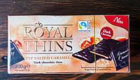 Десертный темный шоколад карамель и соль Royal Thins 200g Германия