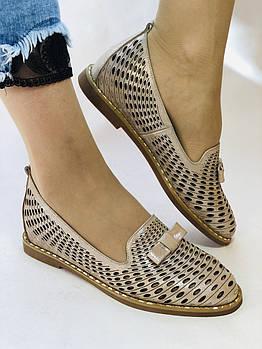 Стильные! Женские туфли -балетки из натуральной кожи 36.37 40. Супер комфорт.Vellena