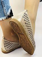 Стильные! Женские туфли -балетки из натуральной кожи 36.37 40. Супер комфорт.Vellena, фото 4