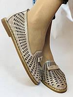 Стильные! Женские туфли -балетки из натуральной кожи 36.37 40. Супер комфорт.Vellena, фото 6
