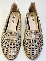 Стильные! Женские туфли -балетки из натуральной кожи 36.37 40. Супер комфорт.Vellena, фото 8