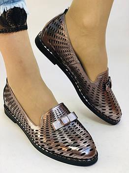 Стильные! Женские туфли -балетки из натуральной кожи 35 36 37.39.40 Супер комфорт.Vellena