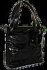 Женская сумка с лаковыми вставками и бантом