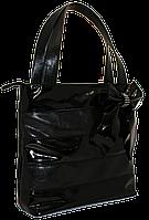 Женская сумка с лаковыми вставками и бантом, фото 1