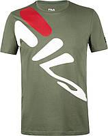 Тёмно-зелёная мужская футболка Fila 102432-74