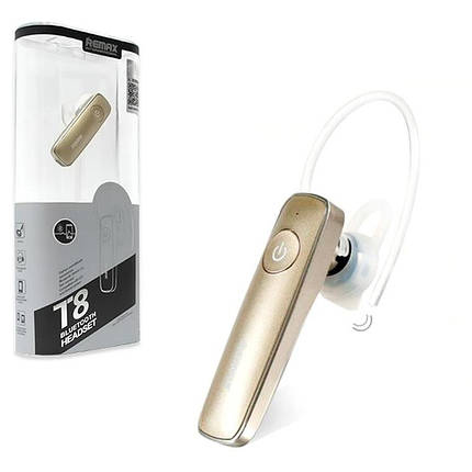 Bluetooth гарнитура наушник REMAX RB-T8 золотая, фото 2