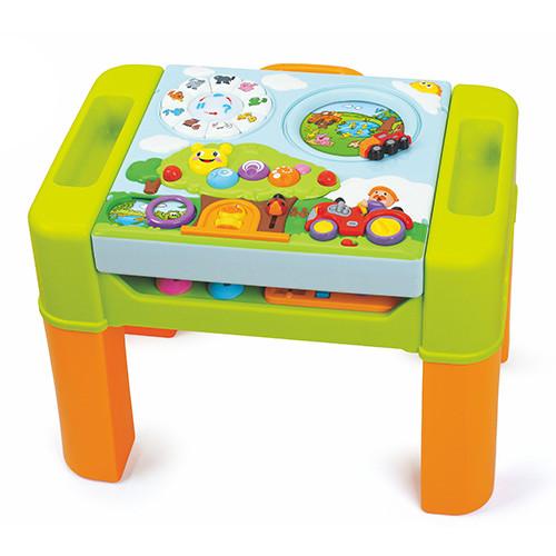 Детский игровой обучающий столик HOLA 928 музыка звук свет звуки животных подвижные детали