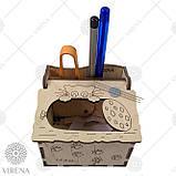 Деревянная мусорничка-шкатулка для обрезков нитей 102, фото 2