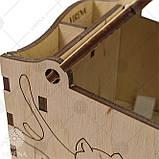 Деревянная мусорничка-шкатулка для обрезков нитей 102, фото 5