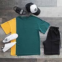 Летний комплект Футболка мужская+шорты+кепка+маска размер  XS, S, M, L, XL