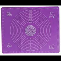 Силиконовый й коврик для выпечки и раскатки 50*40 см