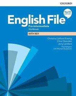 English File 4th Edition Pre-Intermediate Workbook with Key