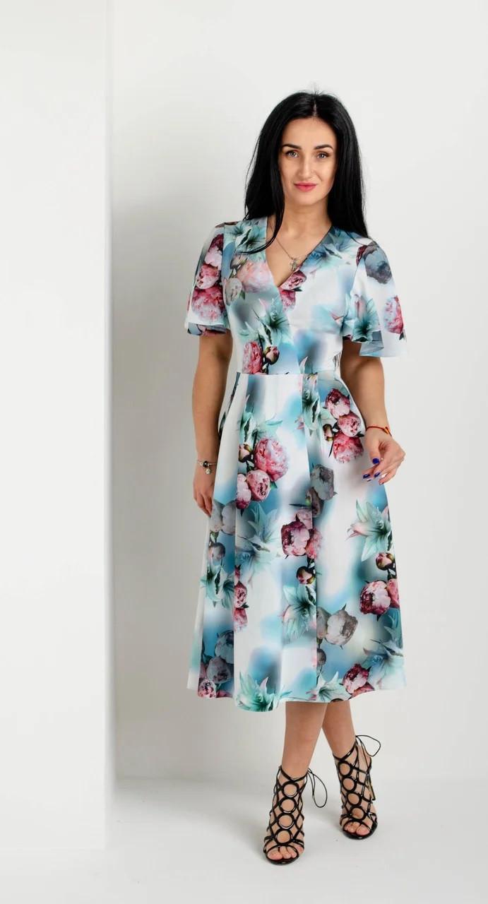 Вишукане літнє плаття бірюзове