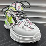 Кросівки Inshoes білі  + принт, фото 2
