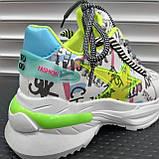 Кросівки Inshoes білі  + принт, фото 6