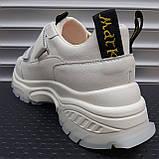 Кросівки жіночі INSHOES молочного кольору, фото 4