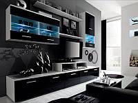 Гостиная LOGO 2 белый/черный (Cama)