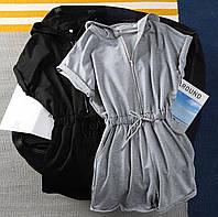 Комбинезон женский летний стильный чёрный, серый 42-44,44-46