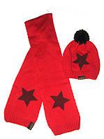 Комплект шапочка с шарфиком