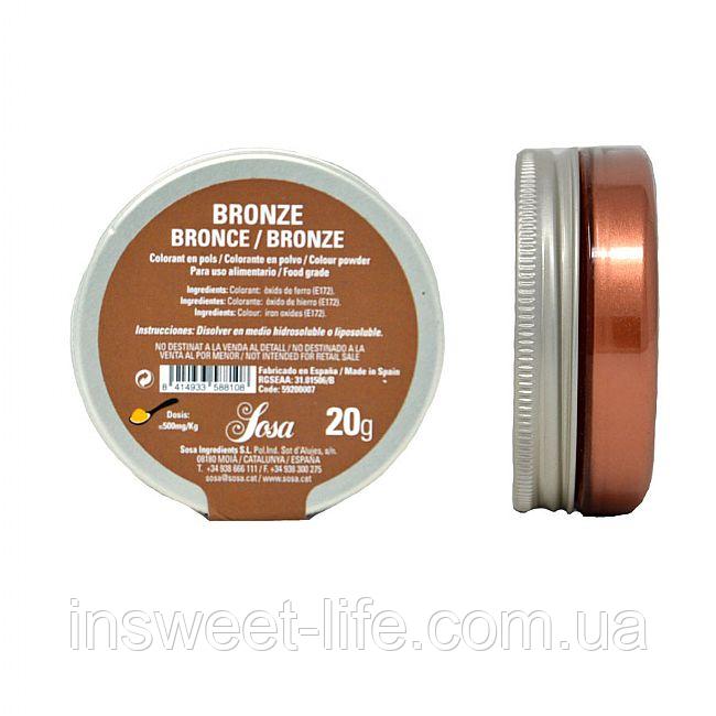 Пищевой краситель жирорастворимый бронза Sosa 20 г/упаковка