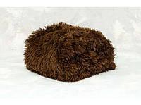 Меховой плед покрывало Травка Полуторный 160х200 коричневый SKL53-239943