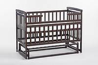 Детская кроватка трансформер Лодочка  DeSon(Десон) Орех, фото 1