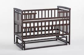 Детская кроватка трансформер Лодочка  DeSon(Десон) Орех