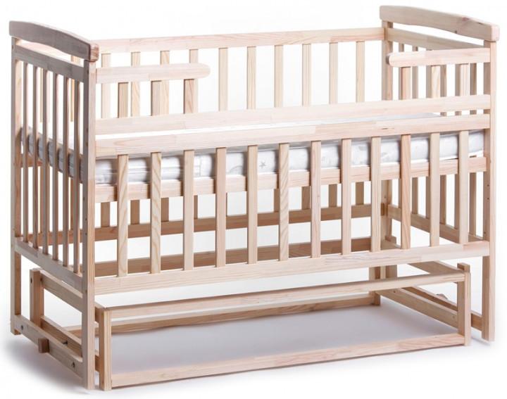 Детская кроватка трансформер Лодочка DeSon(Десон) Натуральный